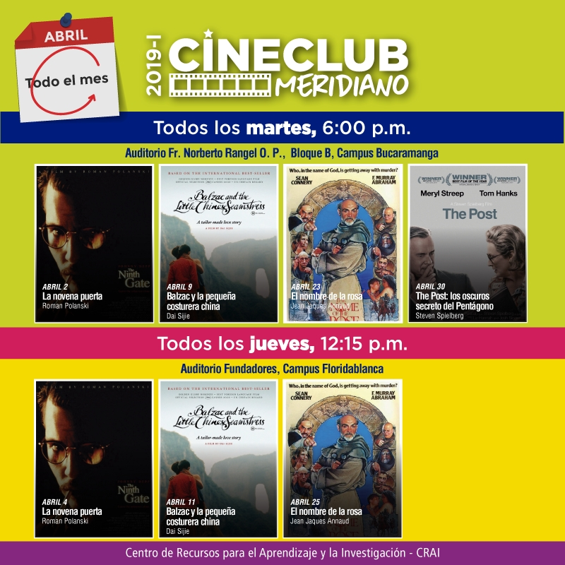 Cine Meridiano Abril